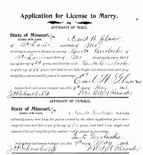 St Louis Mo Marriage Records So Many Ancestors 52 Ancestors Week 27 Quot Independent Quot Augusta Quot Gussie Quot Gersbacher