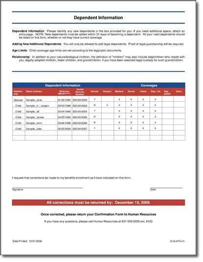 Open Enrollment Forms Employee Benefit Statements Total Compensation Statements Open Enrollment Communication Templates