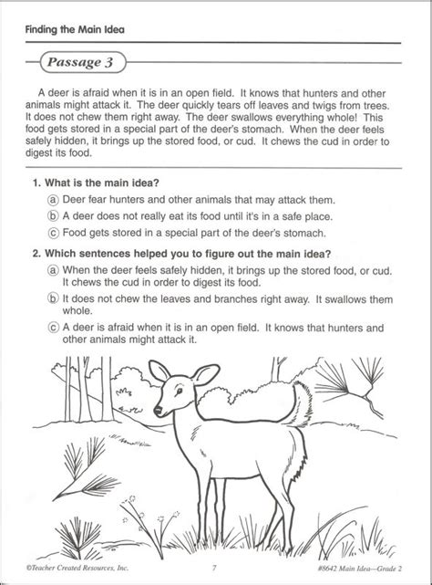Idea Worksheets 3rd Grade by Idea And Supporting Details Quiz 4th Grade