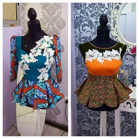 ankara same design in different colours pretty ankara tops same lace appliqu 233 s used in different