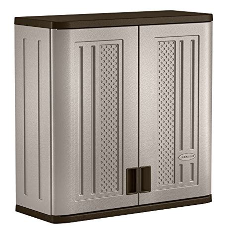 suncast wall storage cabinet platinum garage kitchen