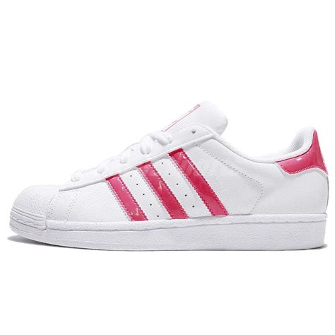 adidas originals superstar j white pink junior shoes sneakers db1210 ebay