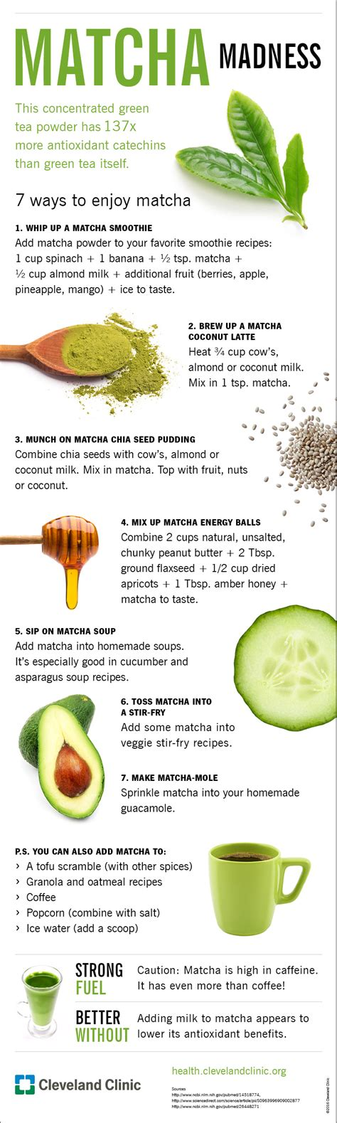 7 Websites To Enjoy by 7 Ways To Enjoy Amazing Matcha Tea Infographic