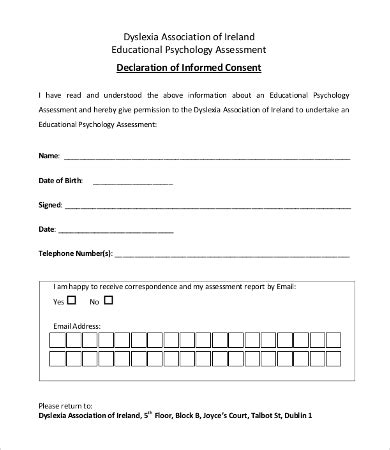 consent form template free consent form template 9 free word pdf documents