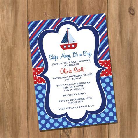 on a boat theme sail boat nautical invite idea birthday party ideas