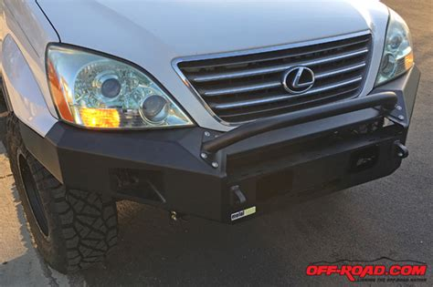 6 Inch Led Light Bar Metal Tech 4x4 Goblin Front Bumper For Lexus Gx 470 Off