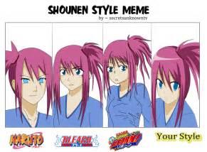 shonen hairstyles secretsunknowntv s shounen style meme by mahoranagi on