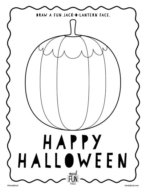 halloween themed free printable coloring page