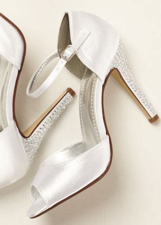 david s bridal dyeable shoes dyeable sandal with embellished heel david s bridal