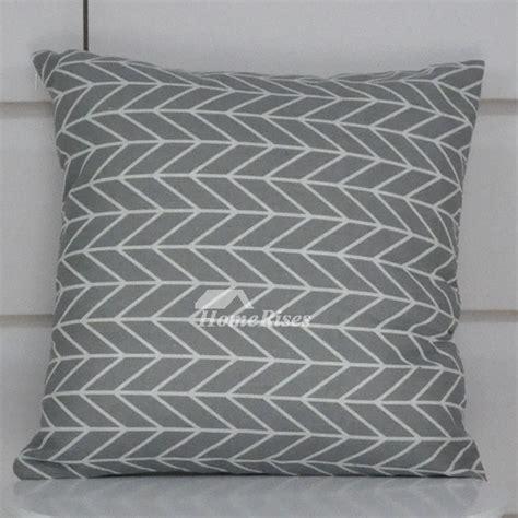 gray decorative pillows linen square for sofa cheap