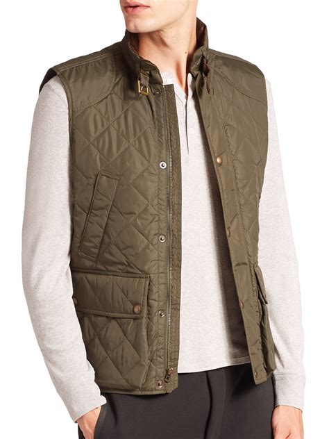 Polo Quilted Vest by Polo Ralph Southbury Quilted Vest In Green For