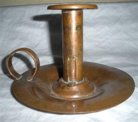 Copper Candle Holder Vintage Venetian Copper Candle Holder With Finger Loop