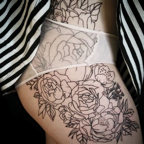 thigh tattoo tumblr ascending lotus session on these pretty hip