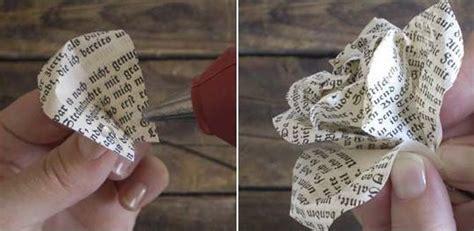 rosas de papel peridico flores en papel periodico imagui