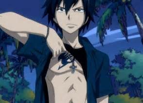 Gray fullbuster is an ice make mage a member of the fairy tail guild