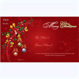 Christmas Gift Certificate Template 10   Word Layouts
