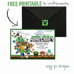 9 best images of free printable minecraft invitations minecraft birthday invitation template