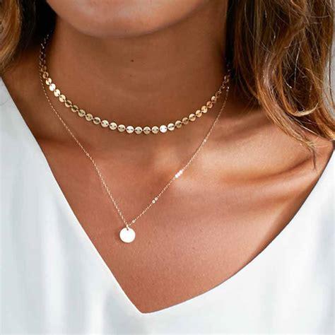 Layered Choker מוצר tomtosh 2017 new fashion gold coin layered necklace