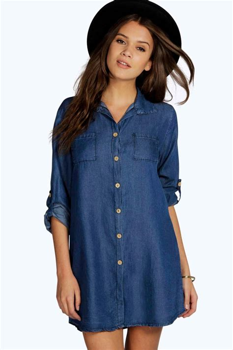 Stylish Shirt Dresses by Mix The Styles With Denim Shirt Dress