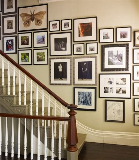ideas on hanging pictures in hallway decorating your staircase with eye catching artwork