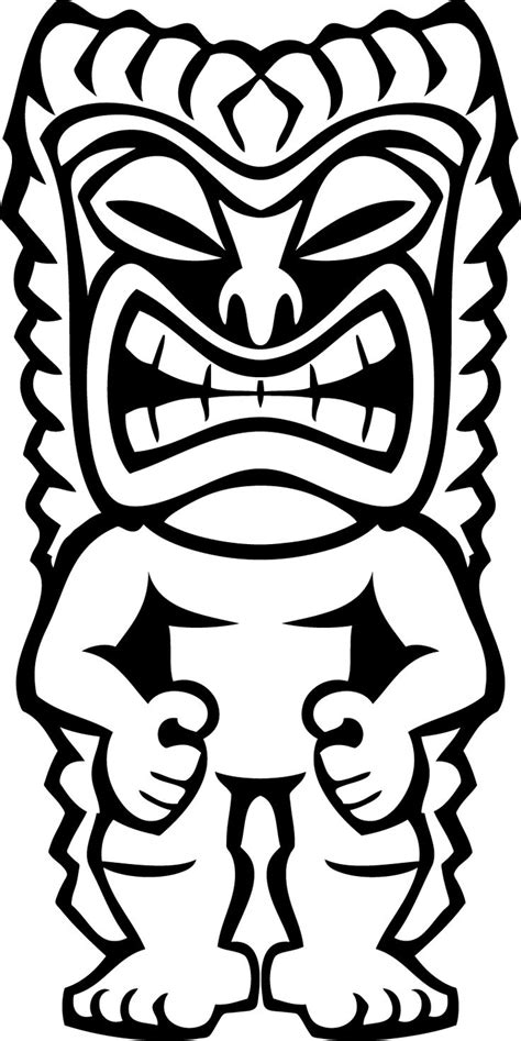 coloring pages vector 20 best images about tiki mask on a tree tiki