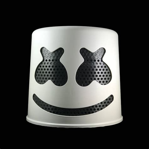 marshmello helmet marshmello helmet white helmet with black mask