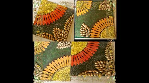 Mural Wall Hanging best out of waste amazing craft using pistachio shell