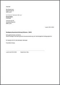 Eingeschriebener Briefvorlage K 252 Ndigungsschreiben Hausratversicherung Kostenlos Als Pdf