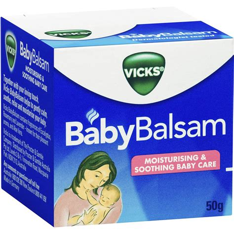 vicks baby balsam moisturising soothing 50g woolworths