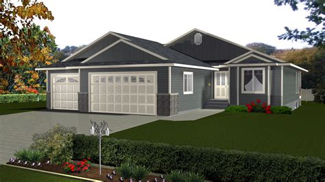 Bungalows 1300 1599 Sq Ft 6 By E Designs Bungalow 2 Car Garage House Plans