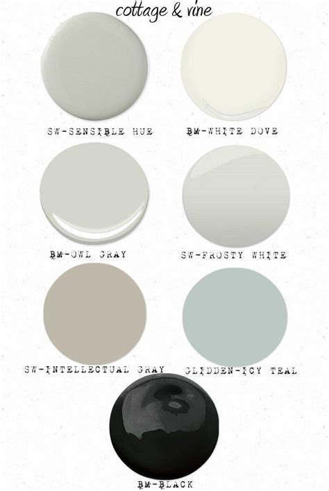 cottage and vine cottage vine paint colors intellectual gray palette perfection