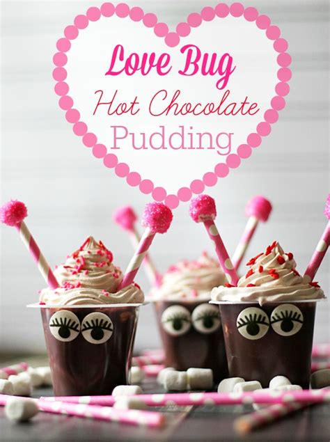 valentines pudding bug chocolate pudding cups