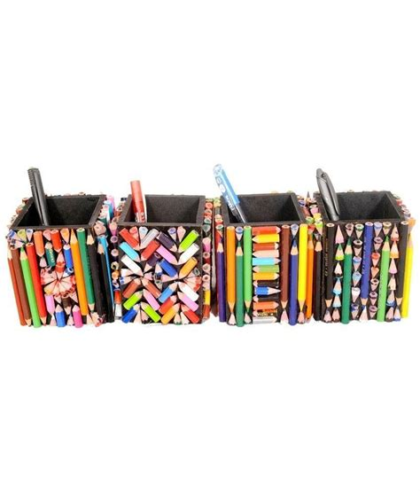 Handmade Pen Stand - aahum handmade pen stand of 550 natraj pencils set of 4