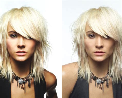 shoulder length hair for heavy women layered shoulder length cut with heavy bangs hair ideas