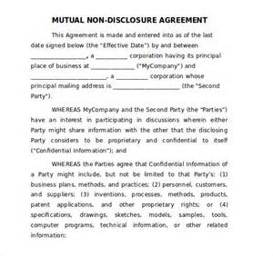 20 word non disclosure agreement templates free