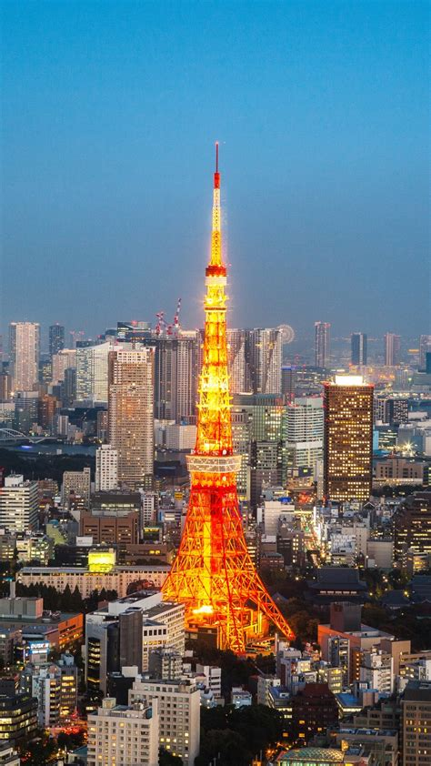 wallpaper tokyo tower tokyo japan cityscape skyline