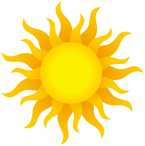 clipart sun sun clipart transparent background pencil and in color