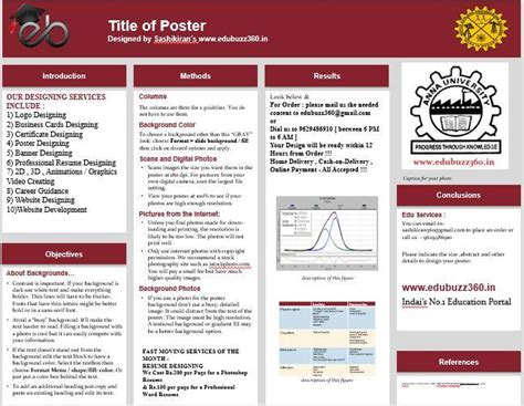 a1 poster template a1 template powerpoint poster presentation