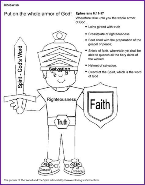 armor of god coloring pages bible printables coloring coloring the armor of god ephesians kids korner