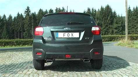 subaru dual exhaust subaru xv fox sportauspuff exhaust by fiese performance