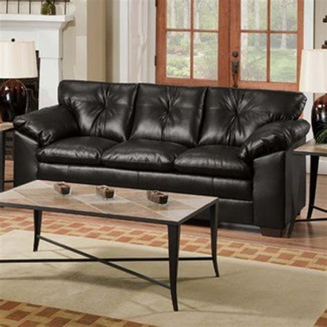Simmons Bonded Leather Sofa Simmons Upholstery Sebring Bonded Leather Sofa In Black 6569s Contemporary Upholstery