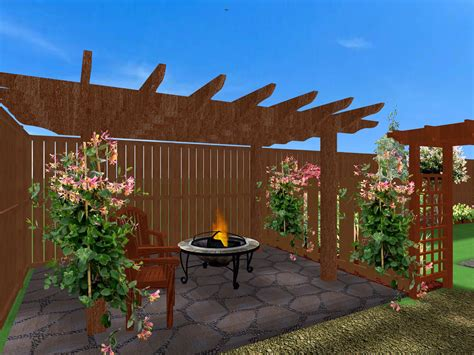 Pergola Ideas For Small Backyards Ideas For Small Yards Rukle Landscape Backyard Pergola Arafen