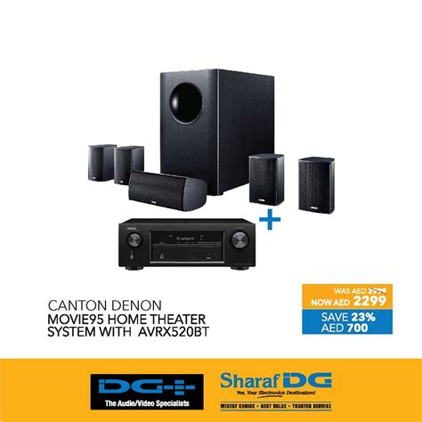 canton denon movie95 home theater system
