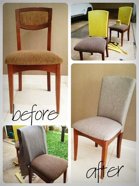 Reupholster Dining Chair Reupholstered Dining Chair Diy For The Home Pinterest