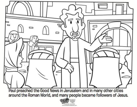 coloring pages book of acts paul preaching free coloring page from the book of acts