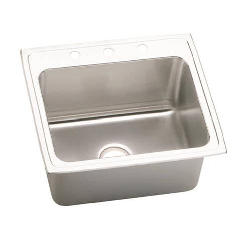 bowl kitchen sinks moen 1800 series drop in stainless steel 25 in 4 single bowl kitchen sink g181954 the