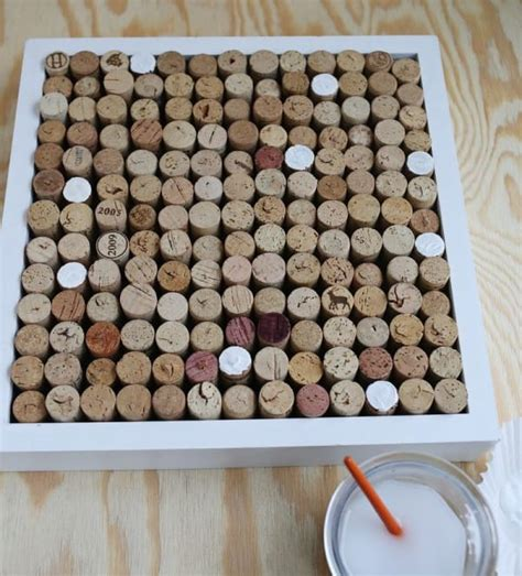 chiminea glue she collected 170 wine corks and glued them together when