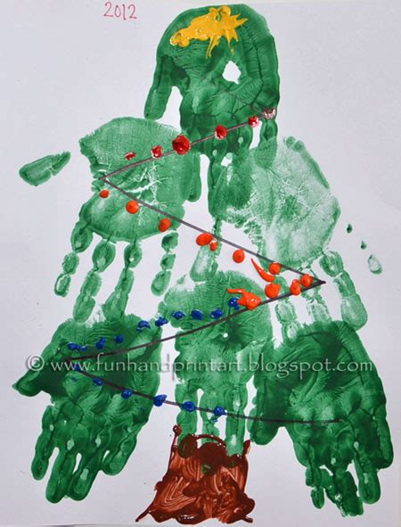 christmas tree crafts for preschool using handprint handprint tree preschool craft handprint tree tree and pre school