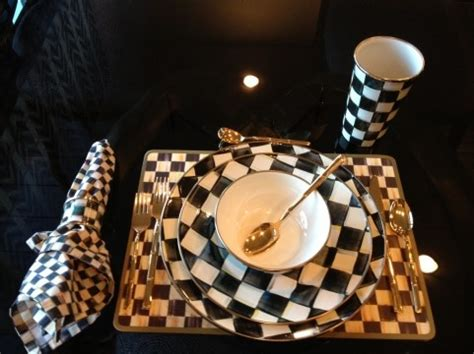Black And White Checkered Kitchen Ware by Black White Checker Dinnerware Check Erd This Out