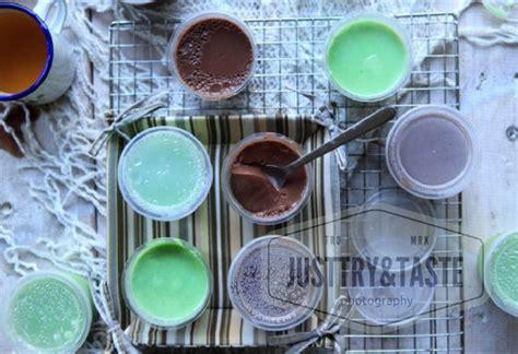 Teh Kotak Di Lotte Mart resep puding sutera coklat dan pandan ekonomis just try